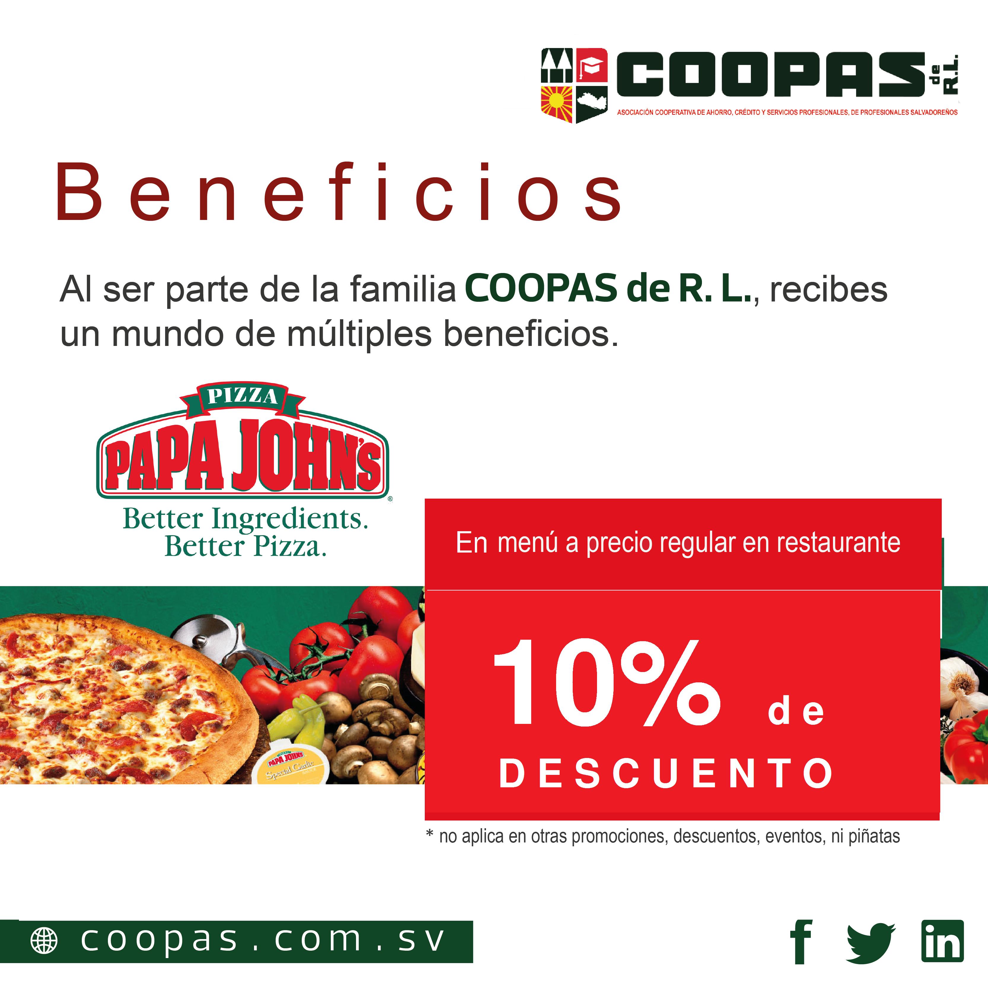 Beneficios Alianzas PAPA JHON´S 2-01.