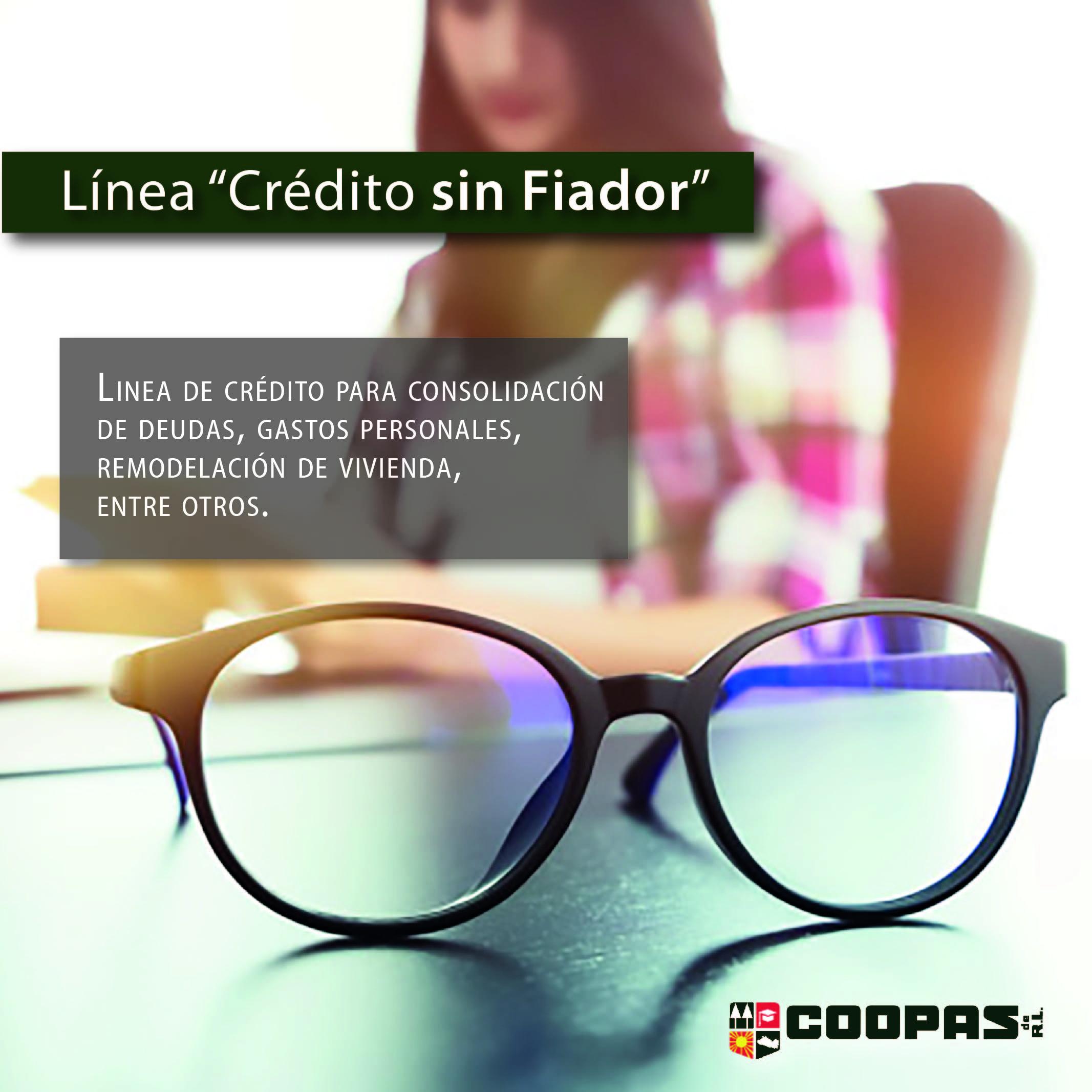 Línea Credito sin Fiador